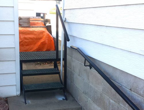 Custom Exterior Railing and Platform