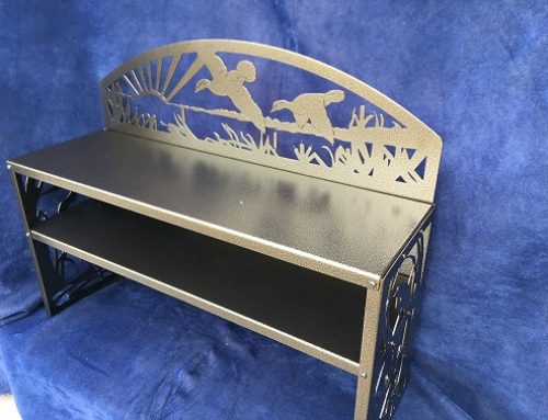 Wetlands Themed Shoe Bench