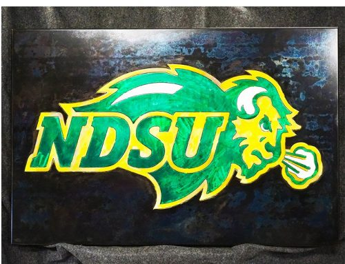 NDSU Bison Plaque