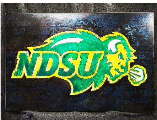 NDSU Bison Plaque